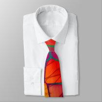 Bright Wing Orange Neck Tie