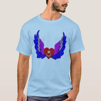 Bright Winged Sufi Heart T-Shirt