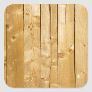 Bright Wood Background Square Sticker