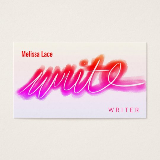 Bright Write Business Card