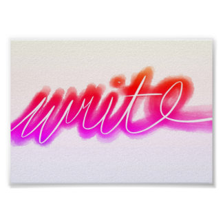 Bright Write Posters