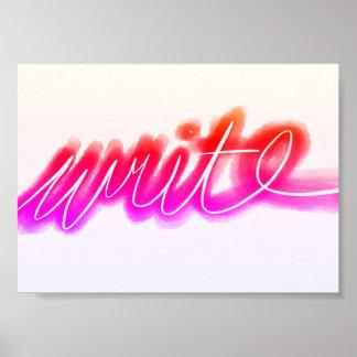 Bright Write Poster