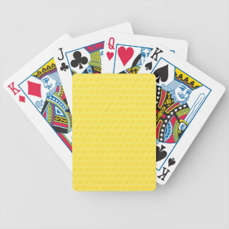 Bright Yellow 3D cubes cascading Bicycle Playing Cards