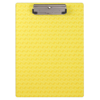 Bright Yellow 3D cubes cascading Clipboard