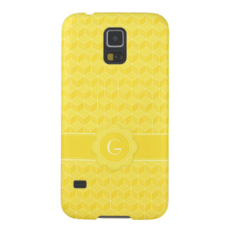 Bright Yellow 3D cubes cascading Galaxy S5 Case