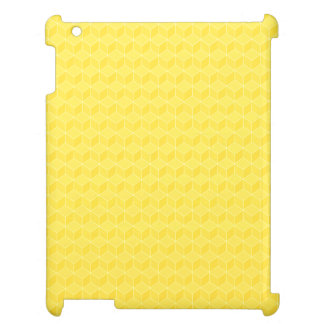 Bright Yellow 3D cubes cascading iPad Covers