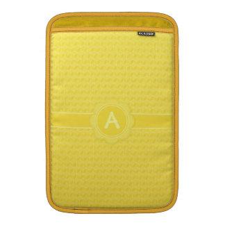Bright Yellow 3D cubes cascading MacBook Air Sleeve