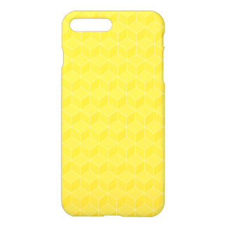 Bright Yellow 3D cubes cascading iPhone 8 Plus/7 Plus Case