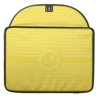 Bright Yellow 3D cubes cascading Sleeves For MacBook Pro