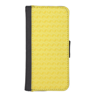 Bright Yellow 3D cubes cascading Wallet Phone Case For iPhone SE/5/5s