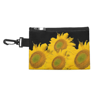 Bright Yellow Abstract Sunflowers Accessories Bags