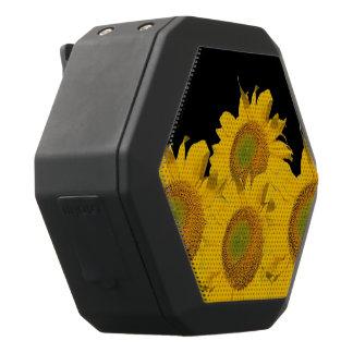 Bright Yellow Abstract Sunflowers Black Bluetooth Speaker