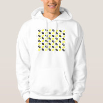 Bright Yellow and Black Football Pattern Hoodie