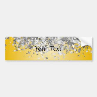 Bright yellow and faux glitter bumper sticker
