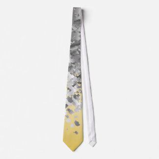 Bright yellow and faux glitter neck tie