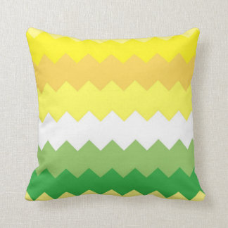 Yellow Green Decorative Pillows : Green And Yellow Chevron Pillows - Decorative & Throw Pillows Zazzle