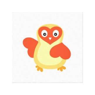 Bright Yellow Baby Chick Canvas Print