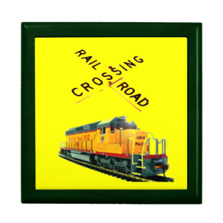 Bright Yellow Background Railroad Scenery Gift Boxes