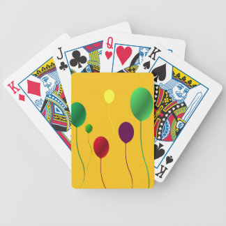 Bright Yellow Balloon Abstract Bicycle Playing Cards