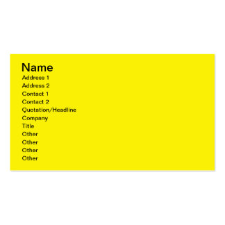 Bright Yellow Double-Sided Standard Business Cards (Pack Of 100)