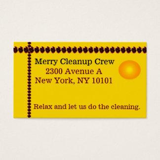 Bright Yellow Business Card Marketing Small Biz