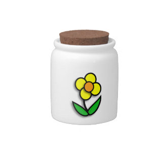 Bright Yellow Buttercup Graphic Candy Dish