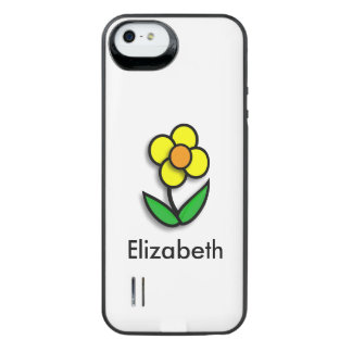Bright Yellow Buttercup Graphic Uncommon Power Gallery™ iPhone 5 Battery Case