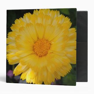 Bright Yellow Calendula 3 Ring Binder