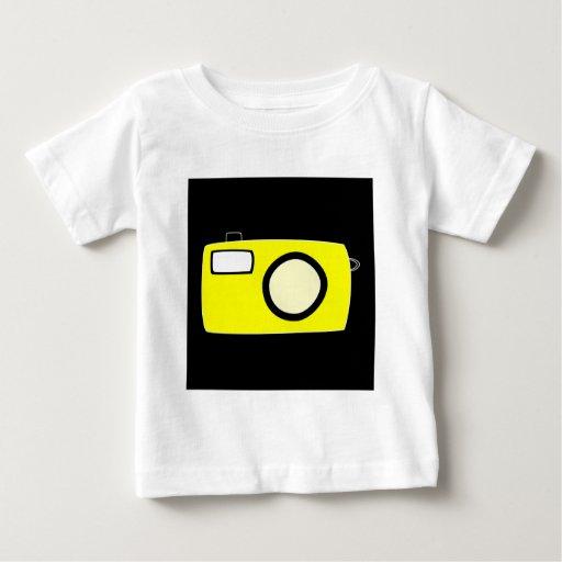Bright Yellow Camera. On Black. Tees