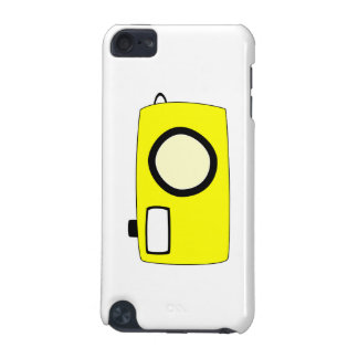 Bright Yellow Camera On White iPod Touch 5G Cover
