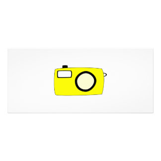 Bright Yellow Camera. On White. Rack Card Template