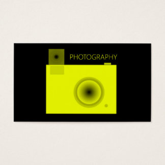Bright Yellow Camera Photography Business Card