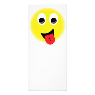 BRIGHT YELLOW CHEEKY HAPPY FACE SMILIES EMOTIONS F RACK CARD