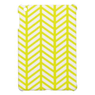 Bright Yellow Chevron Folders iPad Mini Cover