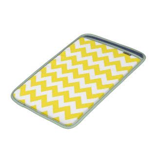 Bright Yellow Chevrons MacBook Air Sleeves