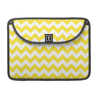 Bright Yellow Chevrons Sleeves For MacBook Pro