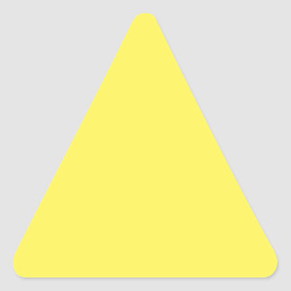 Bright Yellow Color Only Custom Design Products Triangle Sticker