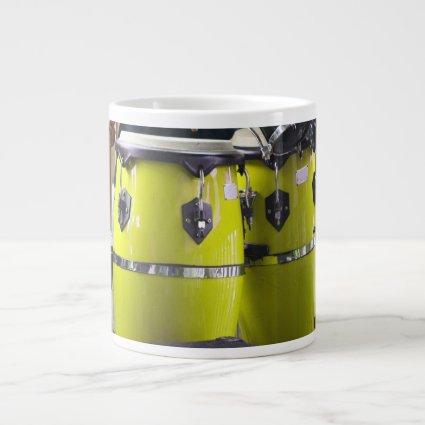 Bright yellow conga drums photo.jpg 20 oz large ceramic coffee mug