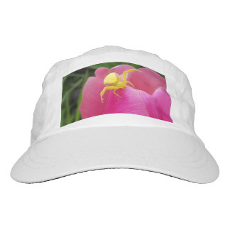 Bright Yellow Crab Spider  Pink Tulip Hat
