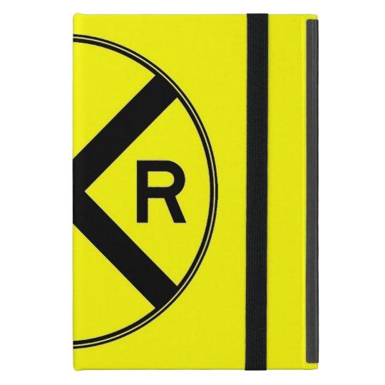 Bright Yellow Crossing Sign iPad Mini Cover