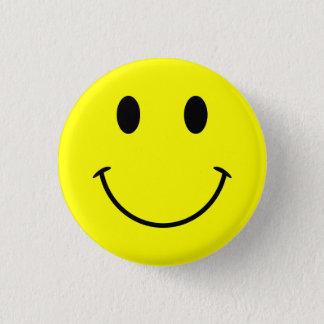 Bright Yellow Cute Face Pinback Button