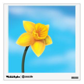 Bright Yellow Daffodil Wall Decal