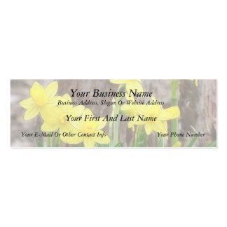 Bright Yellow Daffodils Double-Sided Mini Business Cards (Pack Of 20)