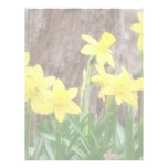 Bright Yellow Daffodils Custom Letterhead