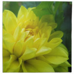 Bright Yellow Dahlia Printed Napkin