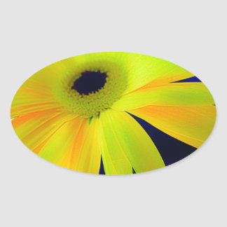 Bright Yellow Daisy Gifts Oval Sticker