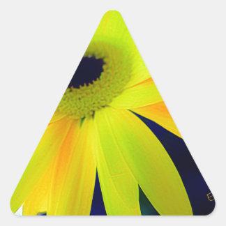 Bright Yellow Daisy Gifts Triangle Sticker