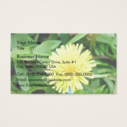 Bright Yellow Dandelion flower Business Card