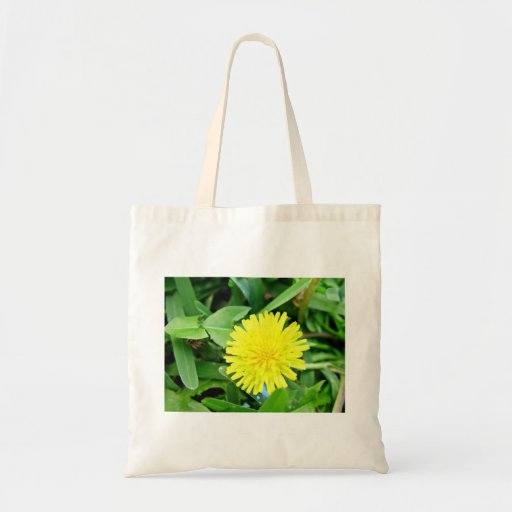 Bright Yellow Dandelion flower Tote Bags