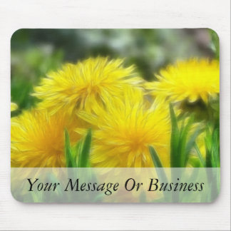 Bright Yellow Dandelions Mouse Pad